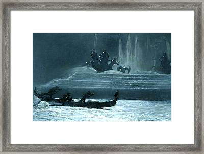 The Fountains At Night, World's Columbian Exposition Framed Print by Winslow Homer