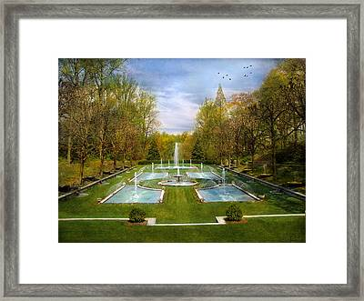 Framed Print featuring the photograph The Fountains by John Rivera