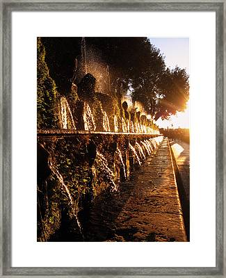 The Fountains Of Villa D'este Framed Print