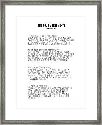 The Four Agreements 5 Framed Print
