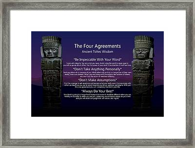 The Four Agreements Poster Framed Print