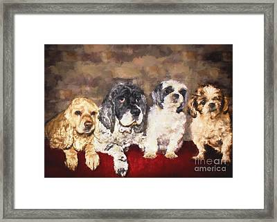 The Four Amigos Framed Print