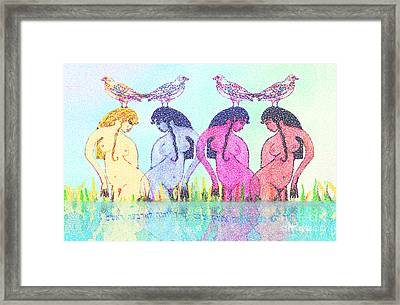The Four Daughters Of Eve  -aka-  Four Rivers Framed Print