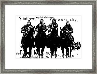 The Four Horsemen Of Notre Dame Framed Print