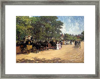 The Four--in--hand Hyde Park Framed Print by MotionAge Designs