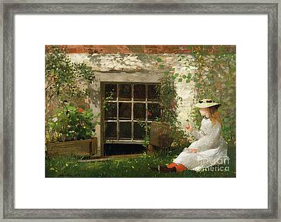 The Four Leaf Clover Framed Print by Winslow Homer