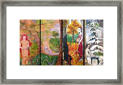 The Four Seasons Framed Print by Erika Brown