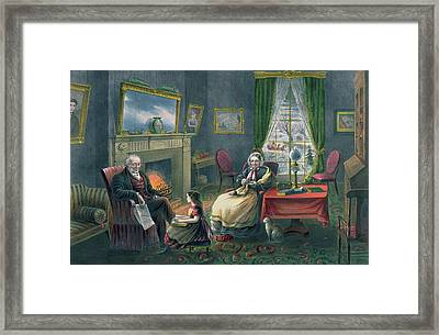The Four Seasons Of Life  Old Age Framed Print by Currier and Ives
