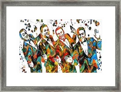 The Four Tops Paint Splatter Framed Print by Dan Sproul