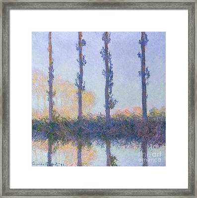 The Four Trees, 1891 Framed Print by Claude Monet