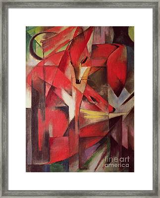 The Fox Framed Print by Franz Marc