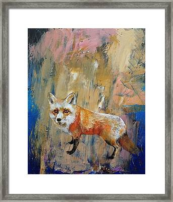 The Fox Framed Print by Michael Creese