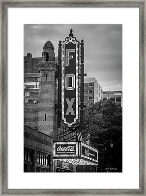 The Fox Theater 8 Coca Cola Signage Art Framed Print
