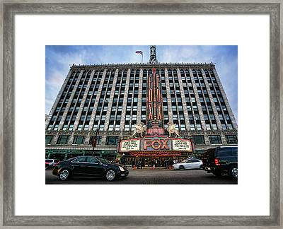 The Fox Theatre In Detroit Welcomes Charlie Sheen Framed Print by Gordon Dean II