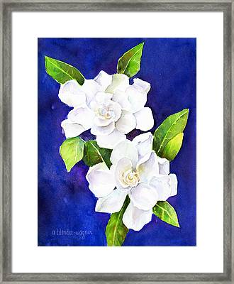 The Fragrant Gardenia Framed Print by Arline Wagner