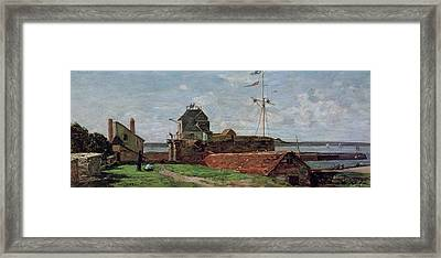The Francois Ier Tower At Le Havre Framed Print by Eugene Louis Boudin