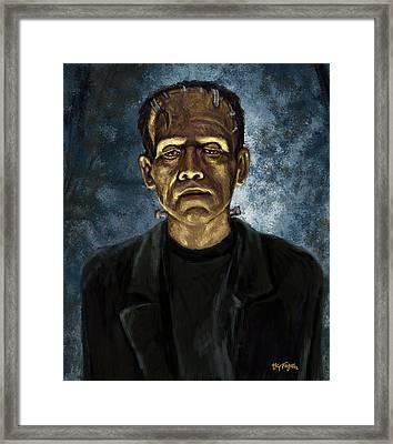 The Frankenstein Monster  Framed Print by Neil Feigeles