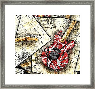 The Frankenstrat Framed Print