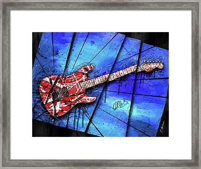 The Frankenstrat On Blue I Framed Print
