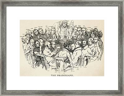 The Fraserian Circle. A 19th Century Framed Print by Vintage Design Pics