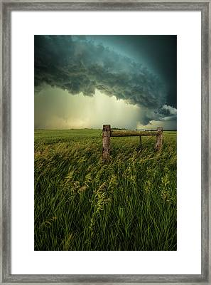 Framed Print featuring the photograph The Frayed Ends Of Sanity  by Aaron J Groen