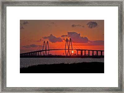 The Fred Hartman Bridge Framed Print