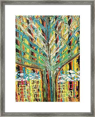 The Freetown Cotton Tree - Abstract Impression Framed Print