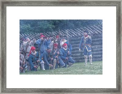 The French Attack On Fort Ligoner 1759 Framed Print by Randy Steele