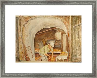 Framed Print featuring the painting The French Baker by Vicki  Housel