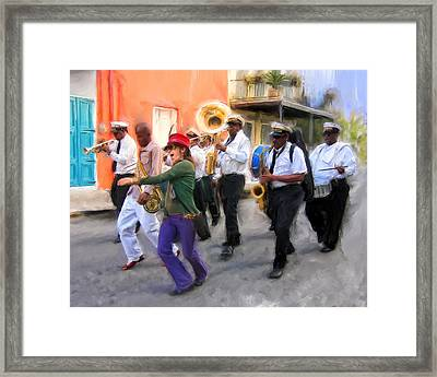 The French Quarter Shuffle Framed Print by Dominic Piperata