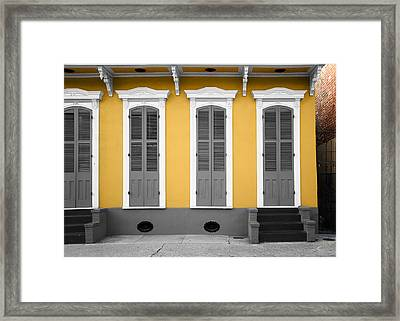 The French Quarter Framed Print by Steven  Michael