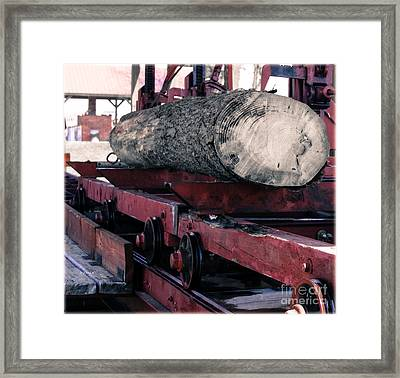 The Frick Log Splitter  Framed Print by Steven Digman