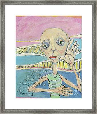 The Friendless Boy Framed Print