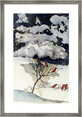 The Friendly Pine Tree Watches Framed Print
