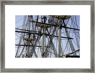 The Friendship Of Salem Tall Ship  In Salem Massachusetts Usa Framed Print by Erin Paul Donovan