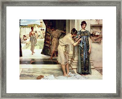 The Frigidarium Framed Print by Sir Lawrence Alma-Tadema