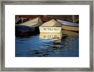 The Frig'n Boat Framed Print