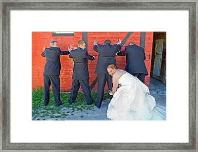 The Frisky Bride Framed Print