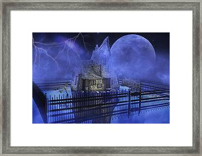 The Frog Who Loves Storms Framed Print
