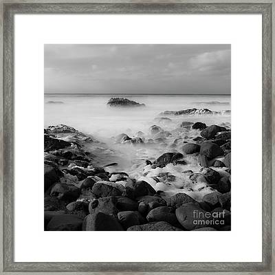 The Frothy Ocean Framed Print by Masako Metz