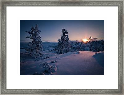 The Frozen Dance Framed Print by Edgars Erglis