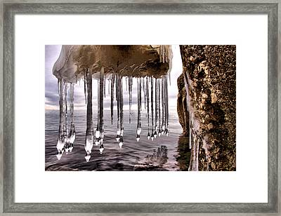 The Frozen Veil Framed Print by Russell Styles