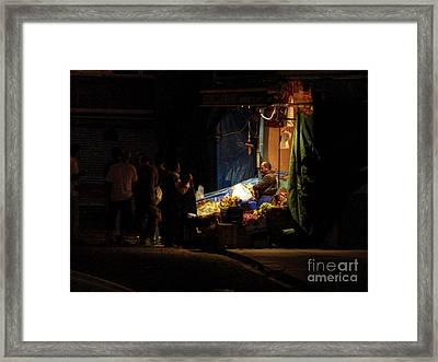 The Fruit Deal Framed Print by Michael Garyet