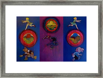 Framed Print featuring the painting The Fruit Machine Stops II by Charles Stuart