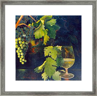 The Fruit Of The Vine Framed Print by Jeanene Stein