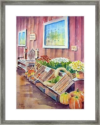 The Fruit Stand Framed Print by Bobbi Price