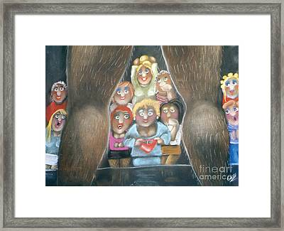 The Full Monty Framed Print