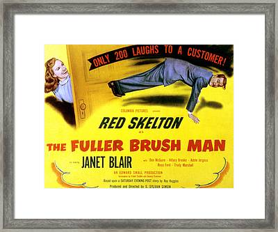 The Fuller Brush Man, Janet Blair, Red Framed Print