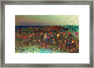 The Fun Side Of Town Framed Print