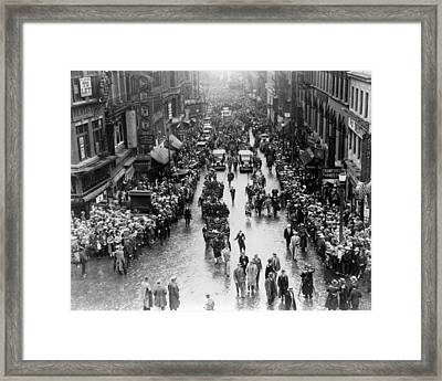 The Funeral Procession Of Executed Framed Print by Everett